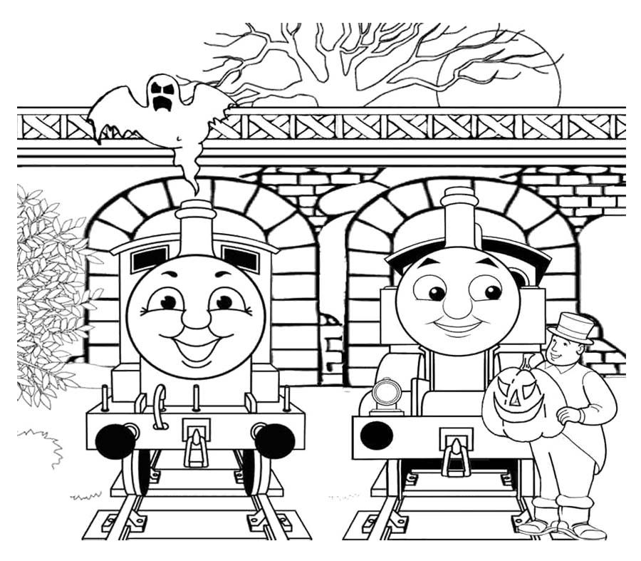 Two Person Chat With Thomas And Friends Coloring Page - Thomas