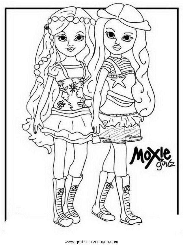 Moxie Girlz Coloring Home