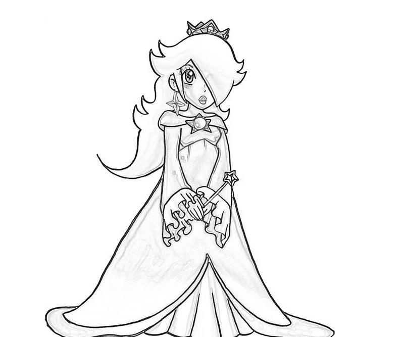 rosalina coloring pages