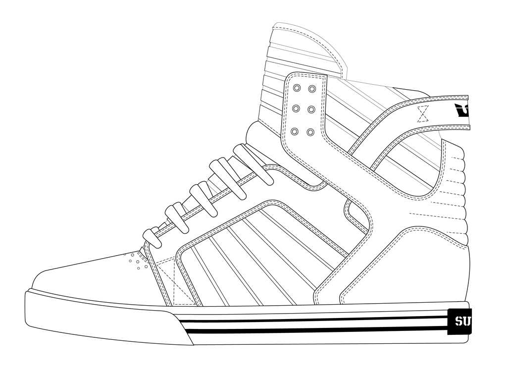 Shoe Outline Template - Coloring Home