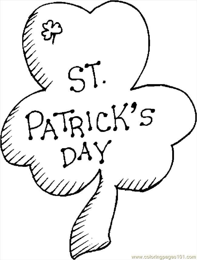 shamrock coloring pages coloring pages