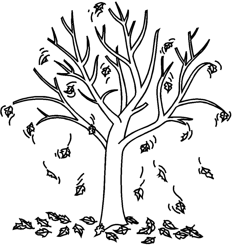 fall tree coloring pages az coloring pages