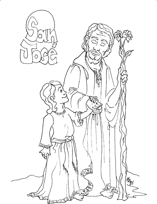 Saint joseph coloring page az coloring pages for St joseph coloring page