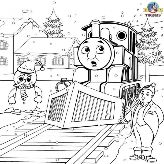 Printable thomas the train coloring pages coloring home for Thomas the train christmas coloring pages