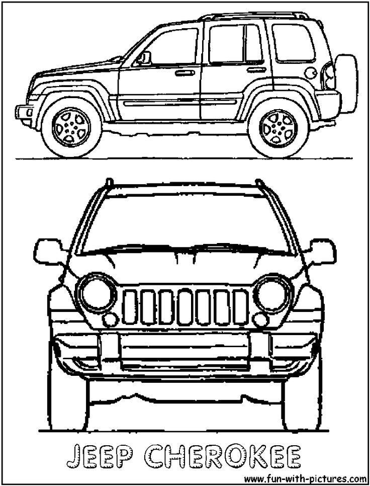 Line Drawing Jeep : Jeep coloring pages home