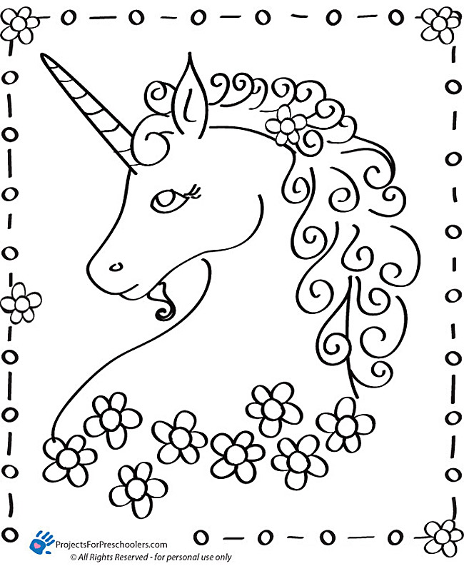 Unicorn Coloring Page Printable