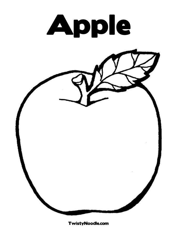 Apple Picture Coloring Pages : Apple coloring pages home