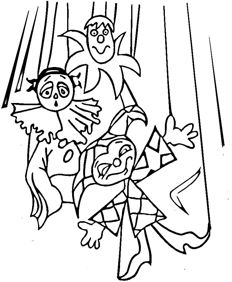 puppets coloring pages - photo#28