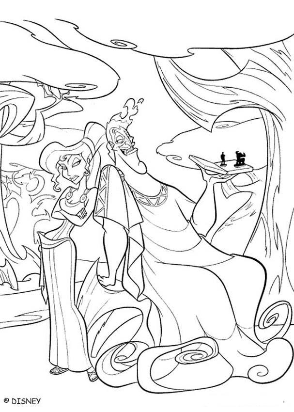 Hercules And Meg Coloring Pages - Coloring Home