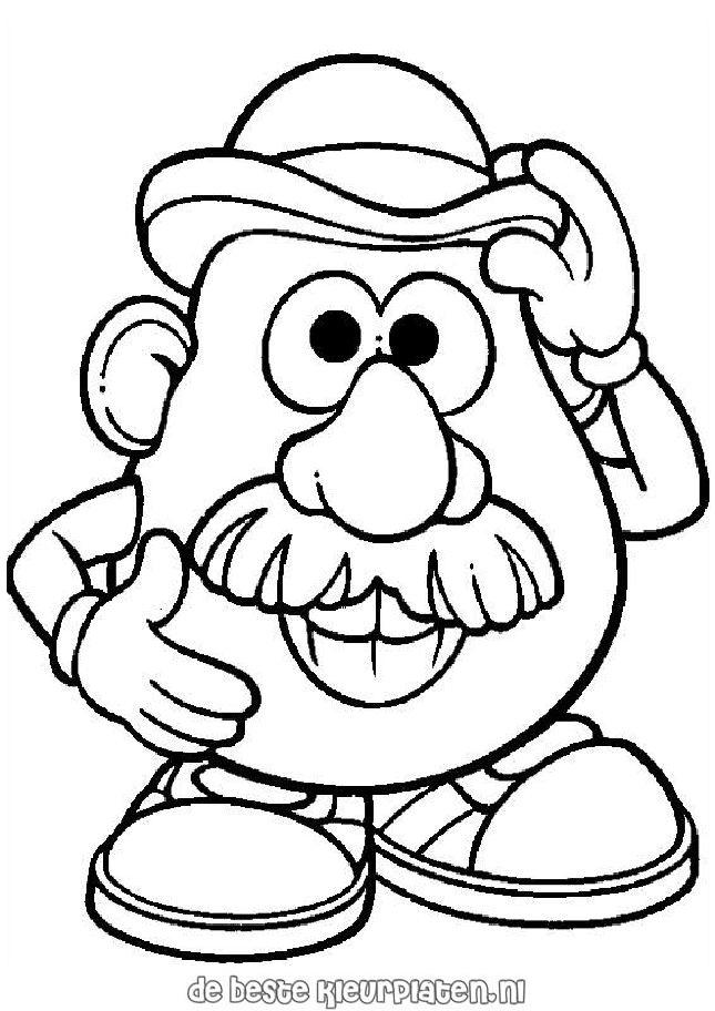 Mr Potato Head Outline Colouring Pages Az Coloring Pages Mrs Potato Coloring Pages