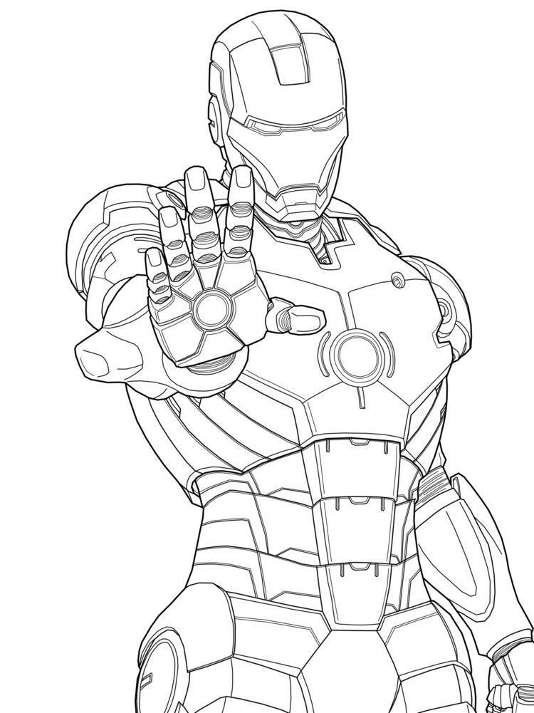 Iron man images for kids coloring home for Free coloring pages iron man