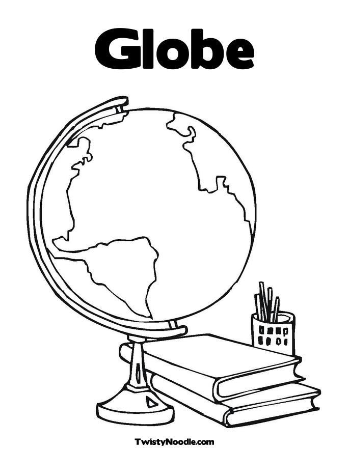globe worksheet Colouring Pages (page 2)