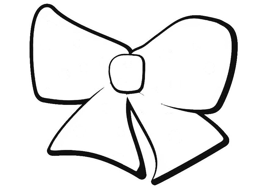 Bow Coloring Sheet Coloring Home