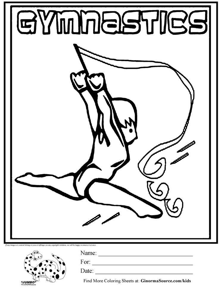 gymnastics color pages - gymnastics color pages az coloring pages