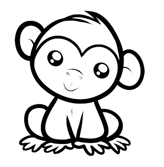 Cartoon Monkeys Coloring Pages Az Coloring Pages Monkey Colouring Pages