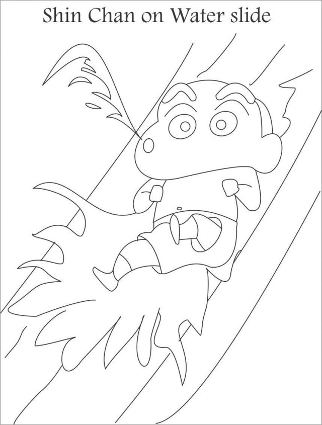 water slide coloring pages - photo#21