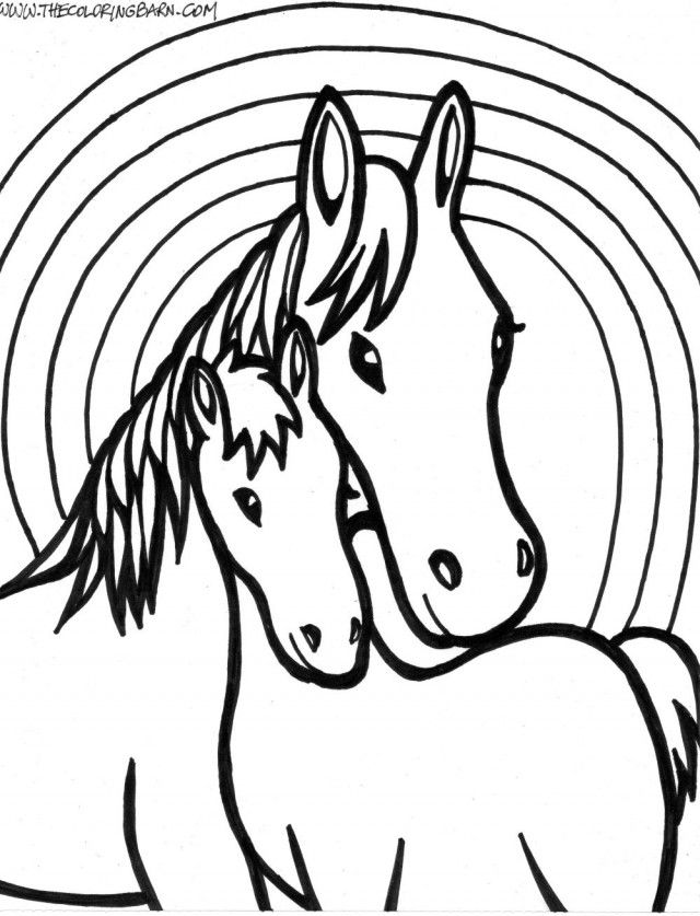 running horses coloring pages - photo#25