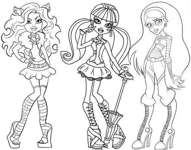 Monster High Clawdeen Coloring Pages