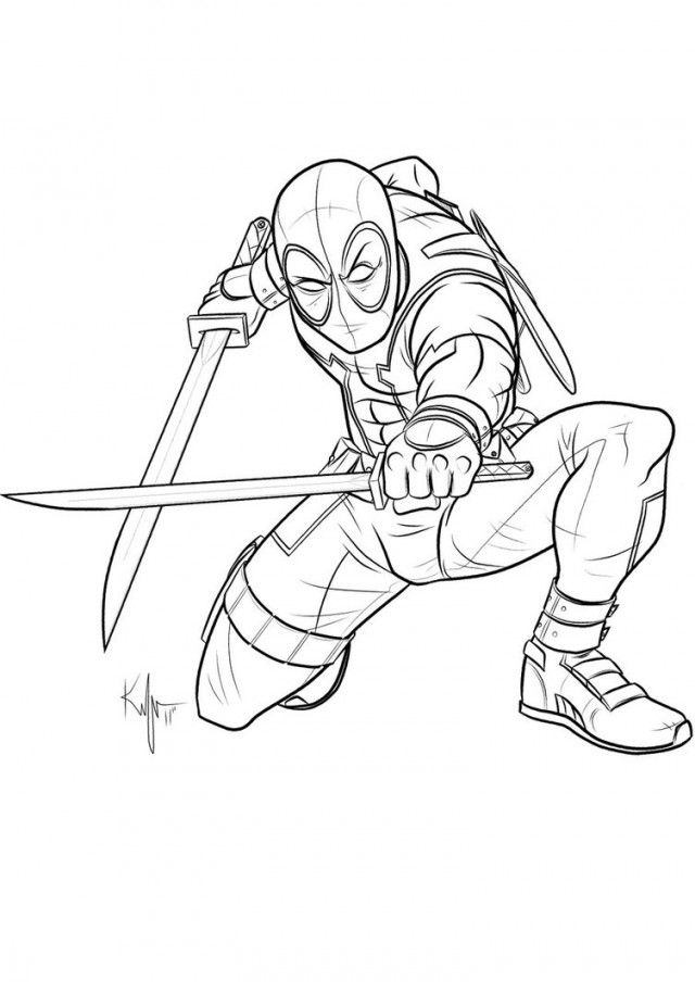 Deadpool Coloring Pages Coloring Home