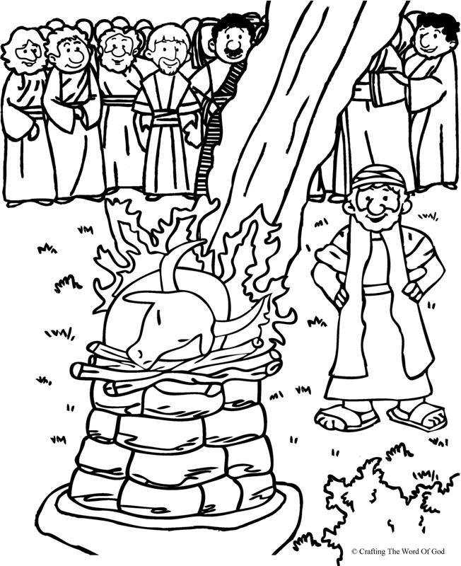 Elijah And The Prophets Of Baal- Coloring Page « Crafting The Word