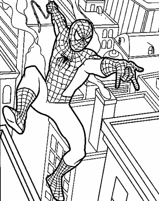 Spiderman Picture Coloring 12