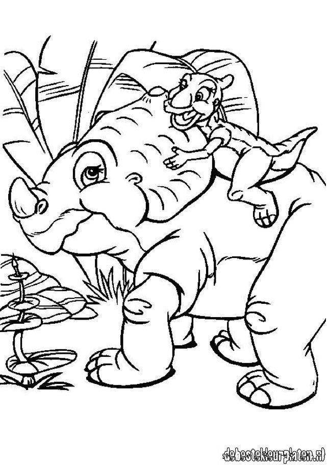 Little Foot Dinosaur AZ Coloring