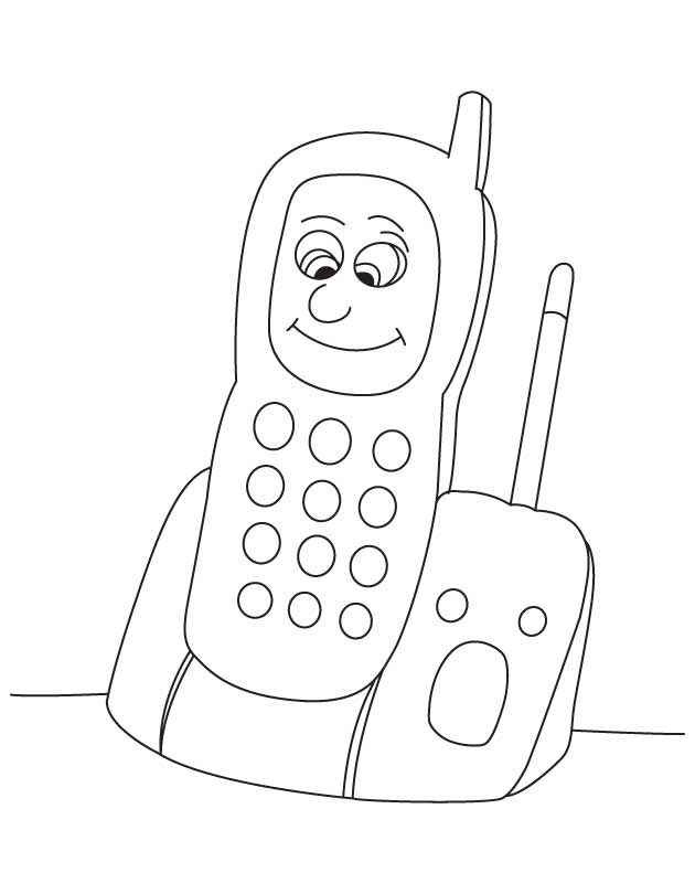 free telephone coloring pages - photo#17