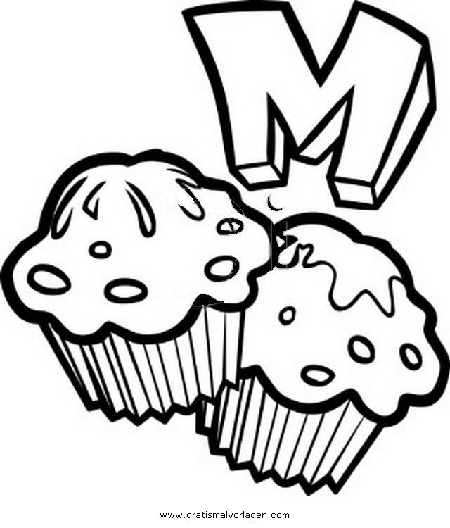 muffin coloring pages for kids - photo#3