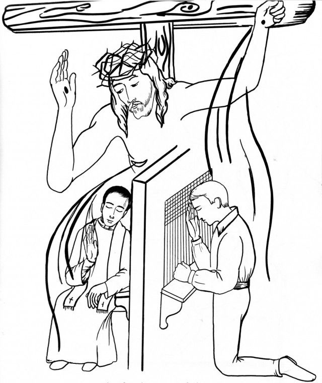 Sacrament Of Reconciliation Coloring Pages Sacrament Of Penance