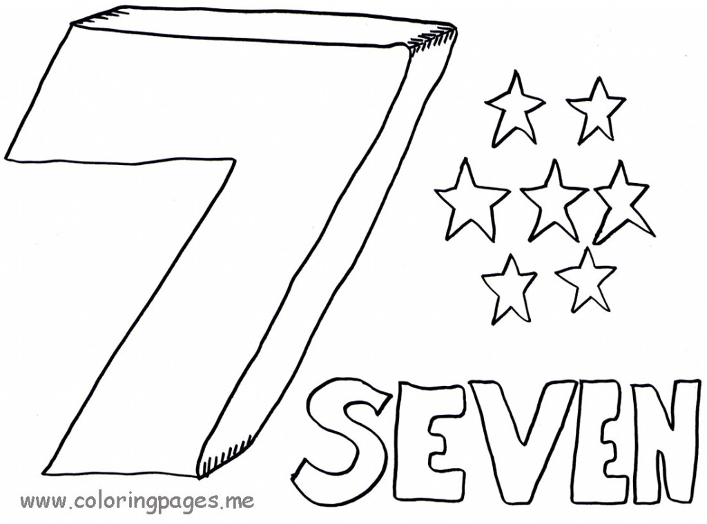 Number 7 coloring page az coloring pages for Number 7 coloring page