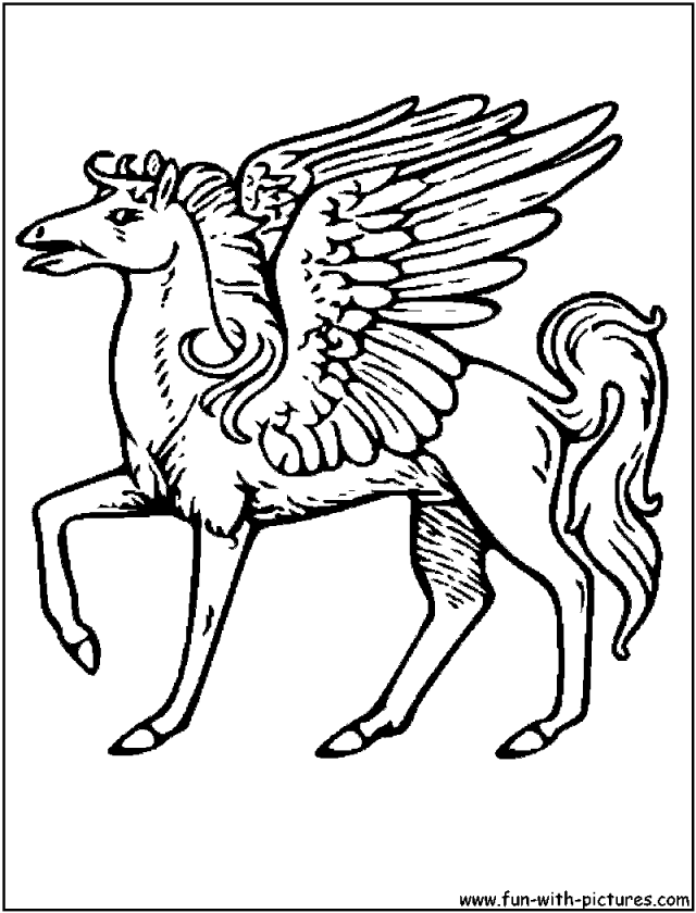 Mythical Pegasus Coloring Page Drawing And Coloring For Kids