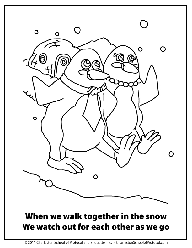 free good manners coloring pages - photo#16