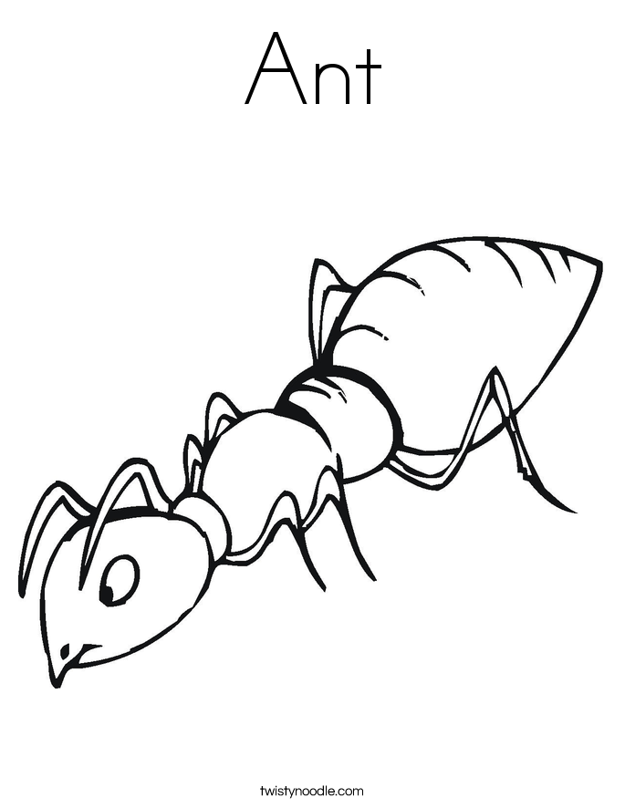 coloring pages ant - photo#2