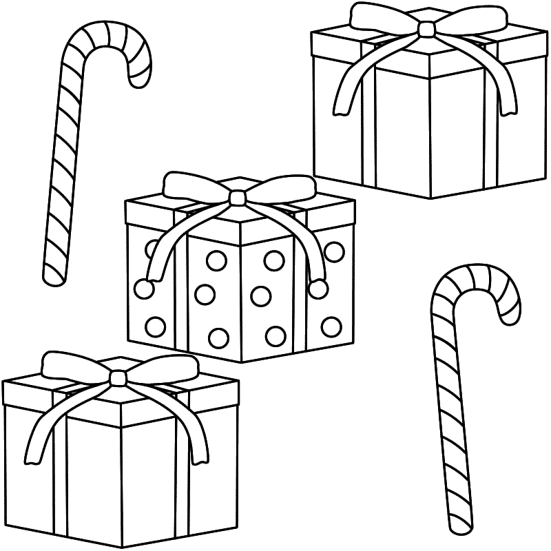 Christmas Candy Coloring Pages