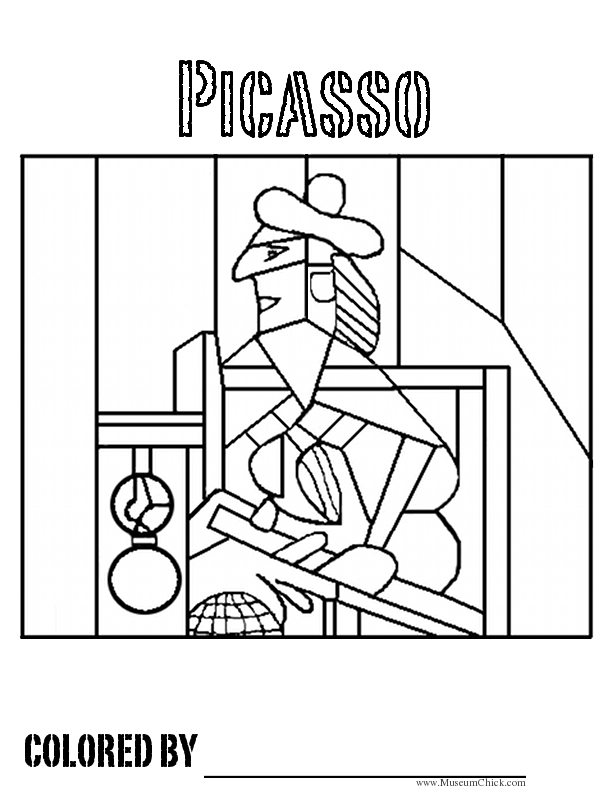 printable coloring pages famous artists - photo#2