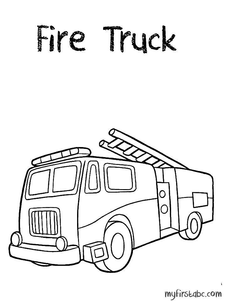 fire truck coloring pages firefighter - photo#27