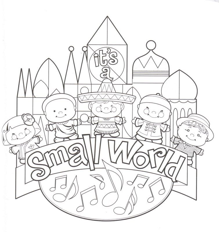 It's A Small World Disneyland Coloring Pages