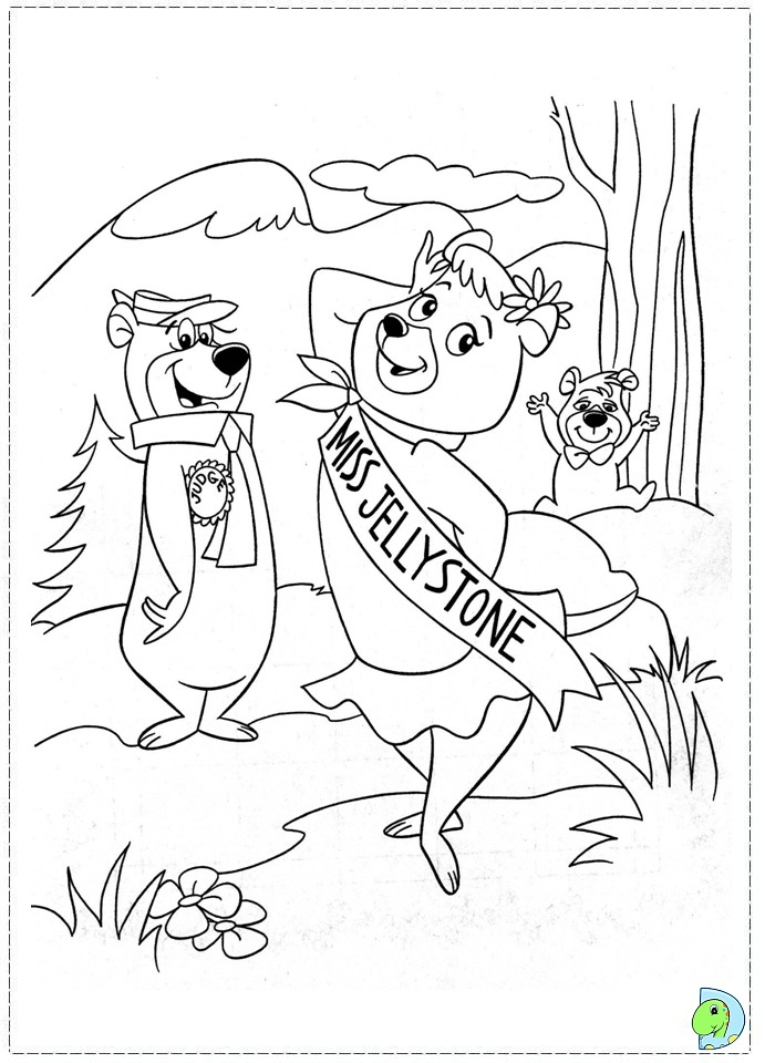 yogi coloring pages-#32