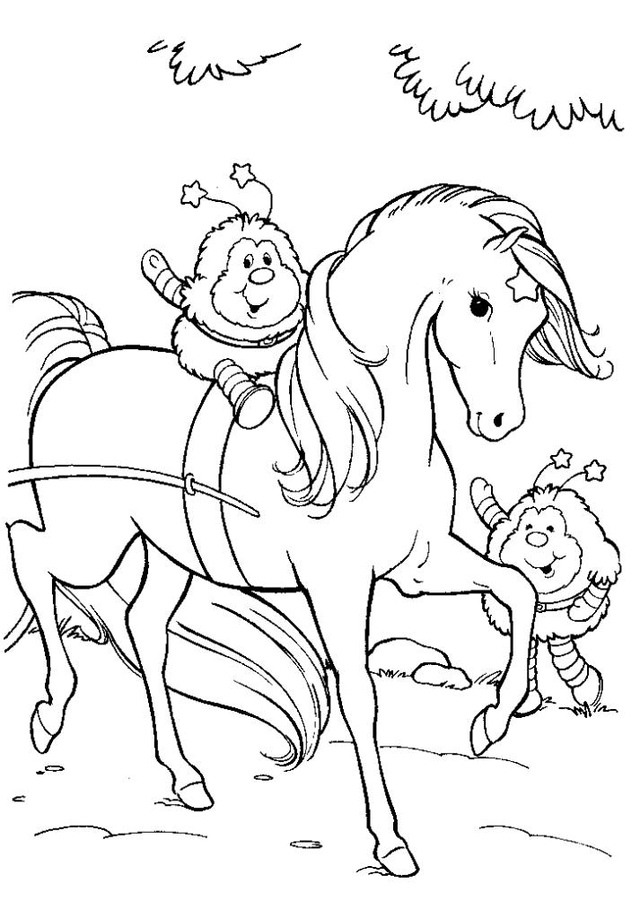 Twink Romeo and OJ in Rainbow Brite Coloring Page | Color Luna | 1024x713