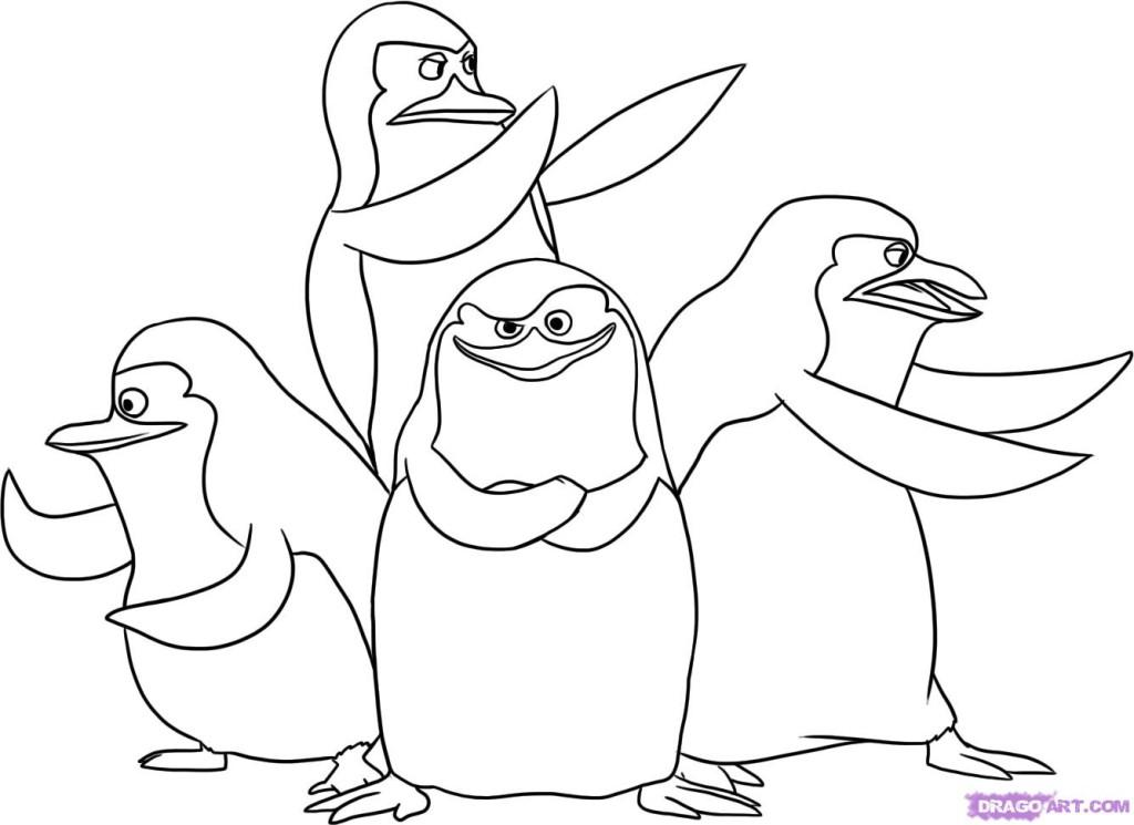 penquins coloring pages - photo#39