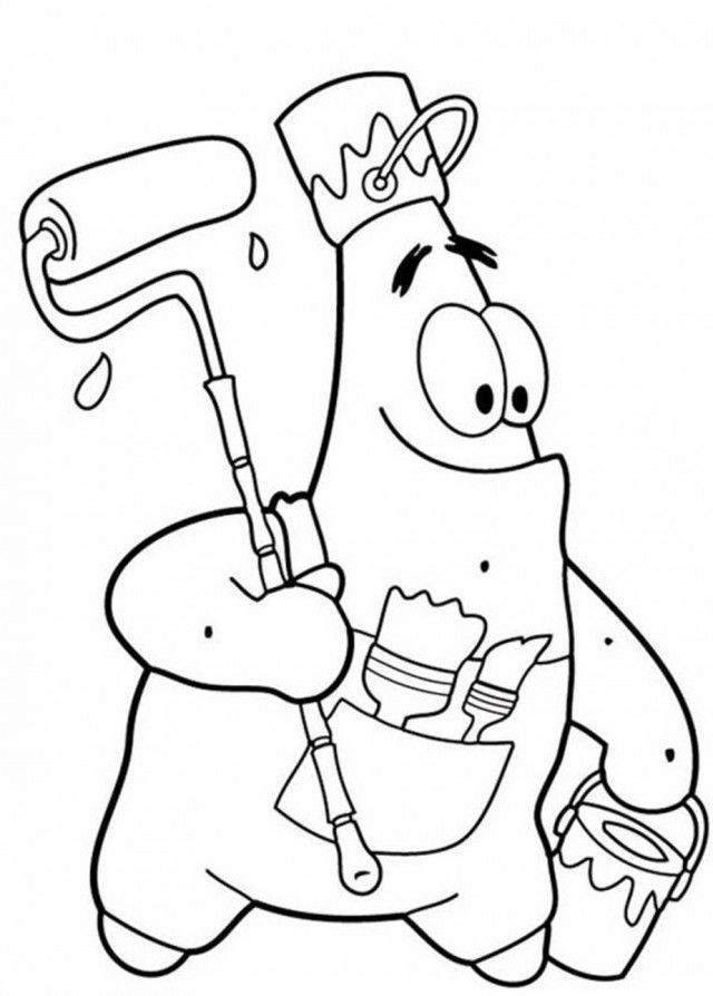 patrick and spongebob coloring pages - photo#31