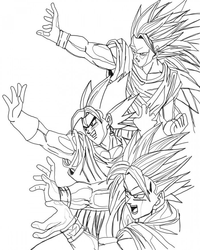 Dragon Ball Z Gogeta Coloring Pages Picture