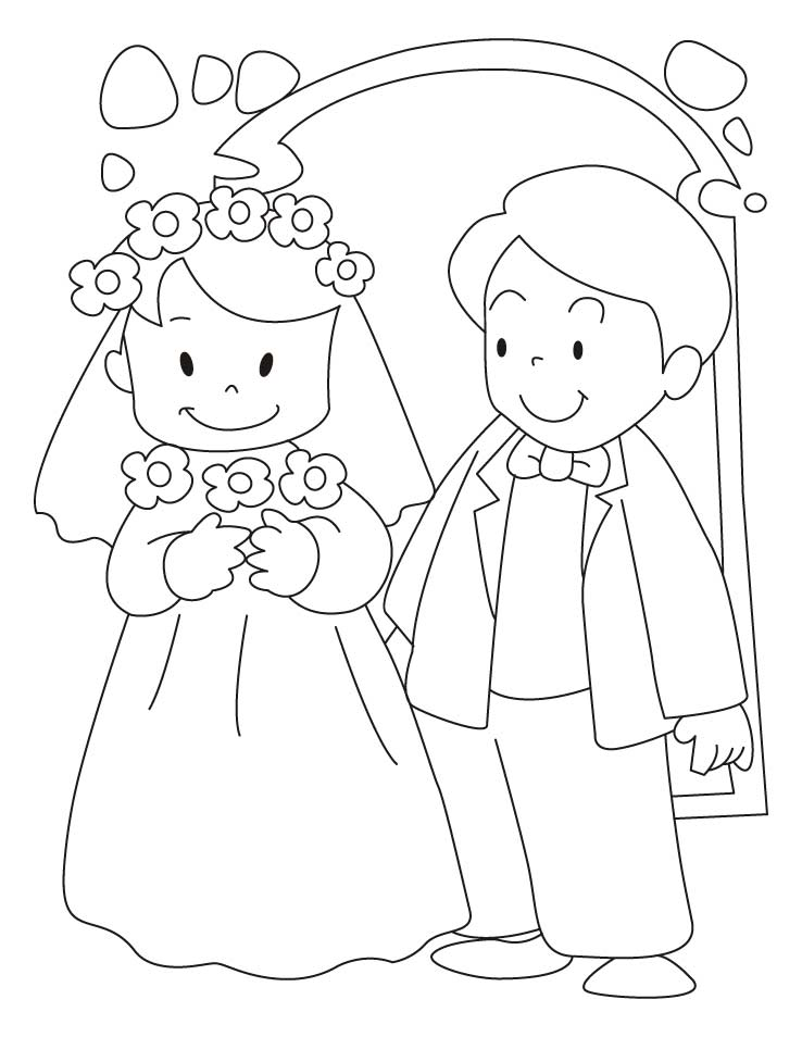 coloring pages weddings - photo#22