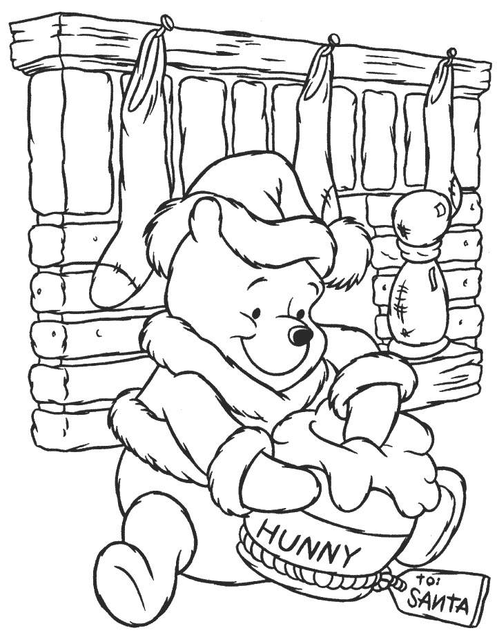 Free Disney Xmas Coloring Pages : Disney Christmas Coloring Pages Printable Coloring Home