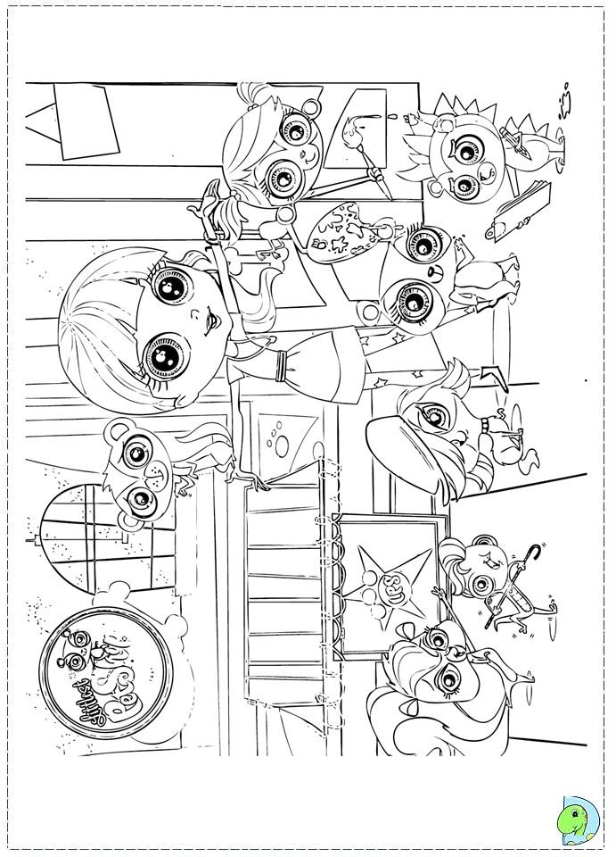 pet store coloring pages - the ugglys pet shop coloring pages