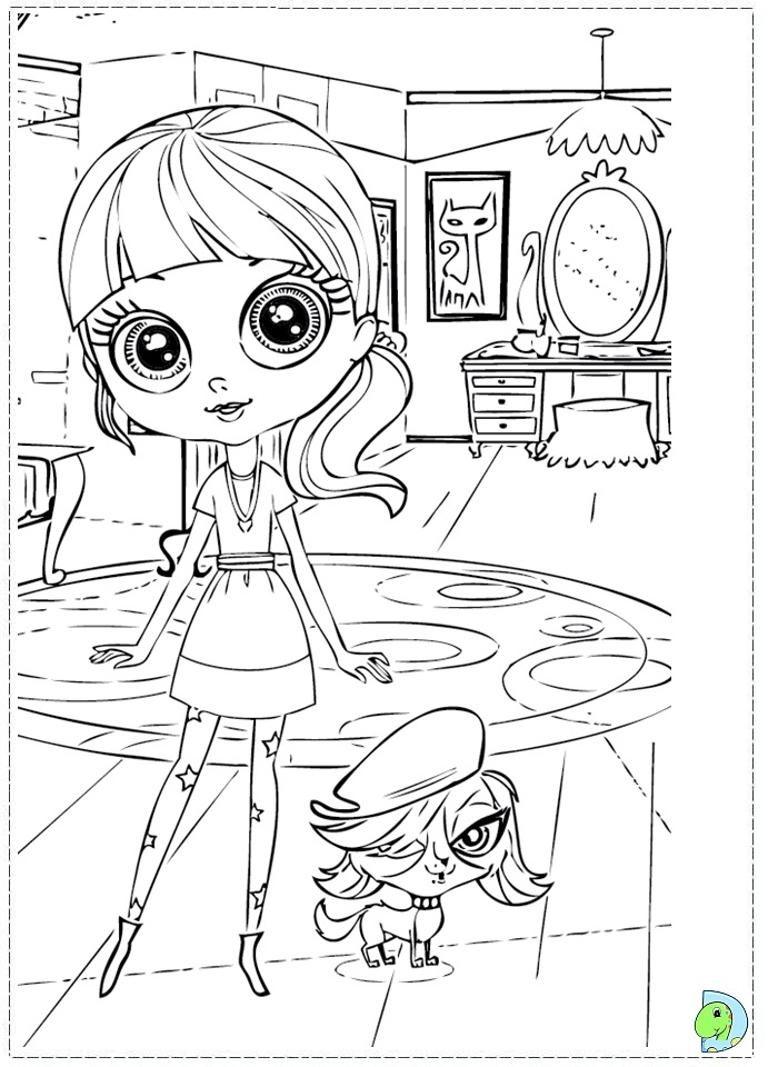Littlest pet shop color pages az coloring pages for Shop coloring page