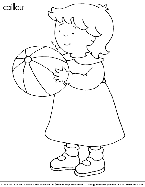 Caillou Coloring - Coloring Home