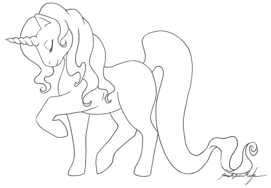 U Is For Umbrella Coloring Page MLP Unicorn TEMPLATE by