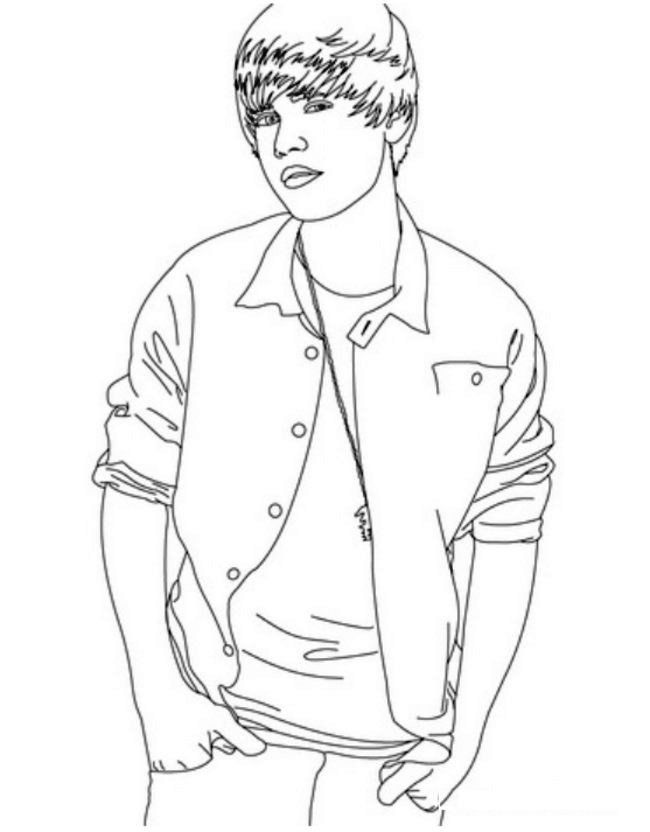 coloring pages justin bieber print - photo#6