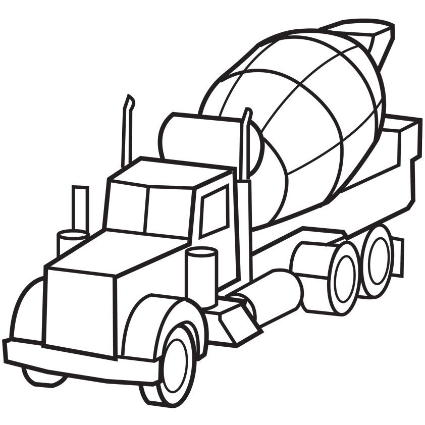 Cement Truck Coloring Pages - Free Printable Coloring Pages | Free